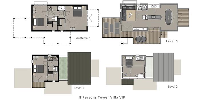 Luxe strandhuis voor 8 personen op beachresort punt westvakanties voor grote gezinnen - Badkamer lengte plan ...