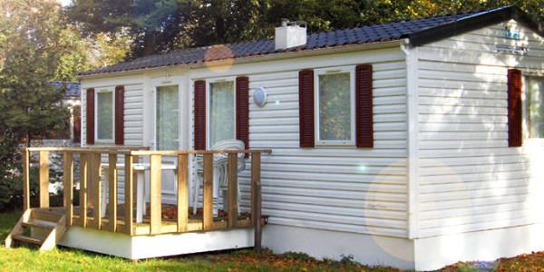 Stacaravan Chalet Eekhoorn op Vakantiepark Dierenbos in Vinkel. Voor 5 personen. Vakantiesvoorgrotegezinnen.nl