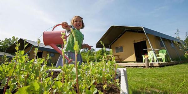 Luxe safaritent in Zeeland logeren bij de boerVakanties voor Grote Gezinnen