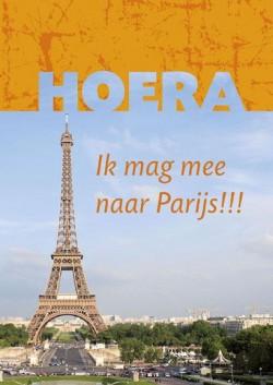 Hoera ik mag mee naar Parijs!