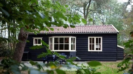 Beerze Bulten houten Bungalow nr 16 6persoons nabij Ommen. Vakantiesvoorgrotegezinnen.nl