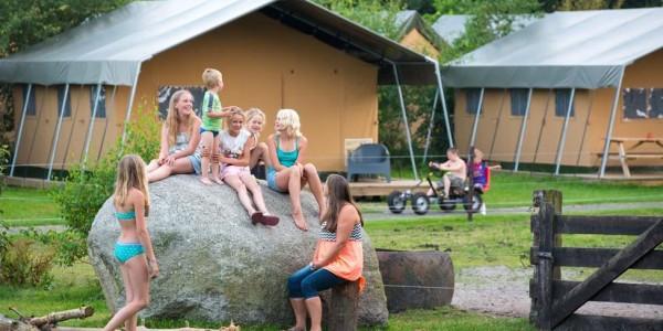 Glamping in Drenthe bij FarmCamps De Bosrand met een luxe safaritent voor grote gezinnen met 6 personen - vakantiesvoorgrotegezinnen.nl